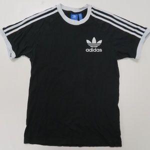 Adidas T-Shirt Trefoil Small Logo Mens Small Black